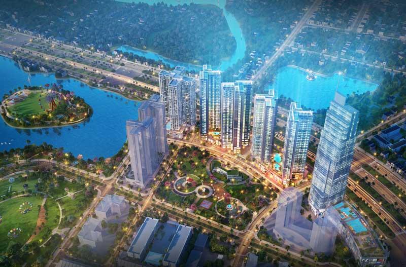 Tổng thể dự án căn hộ Eco Green Sai Gon đường Nguyễn Văn Linh Quận 7 của chủ đầu tư Xuân Mai Sài Gòn